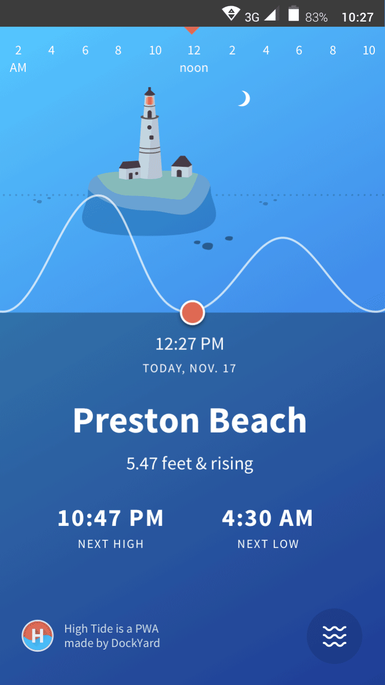 High Tide Progressive Web App