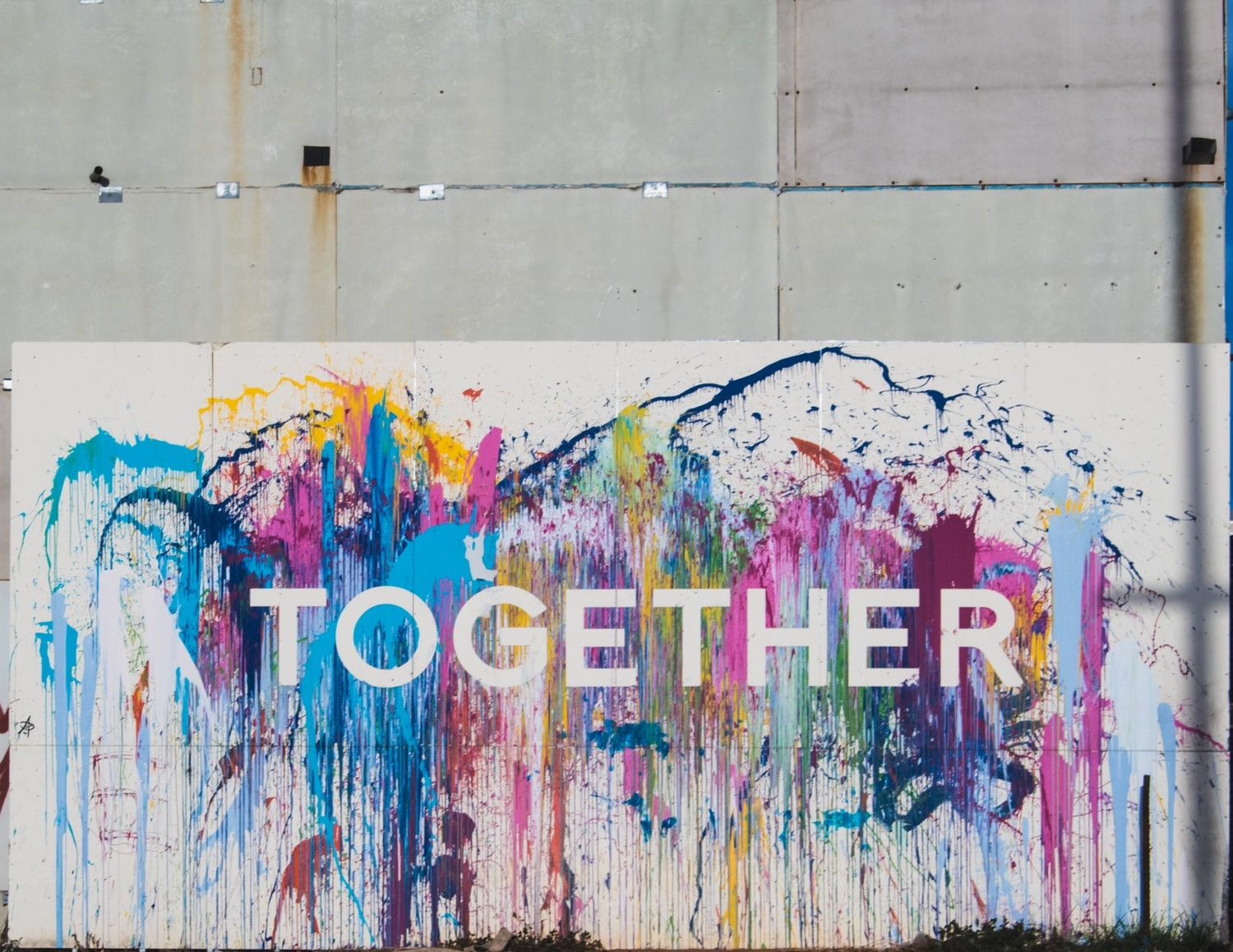 "Colorful graffiti with the world ""Together"""