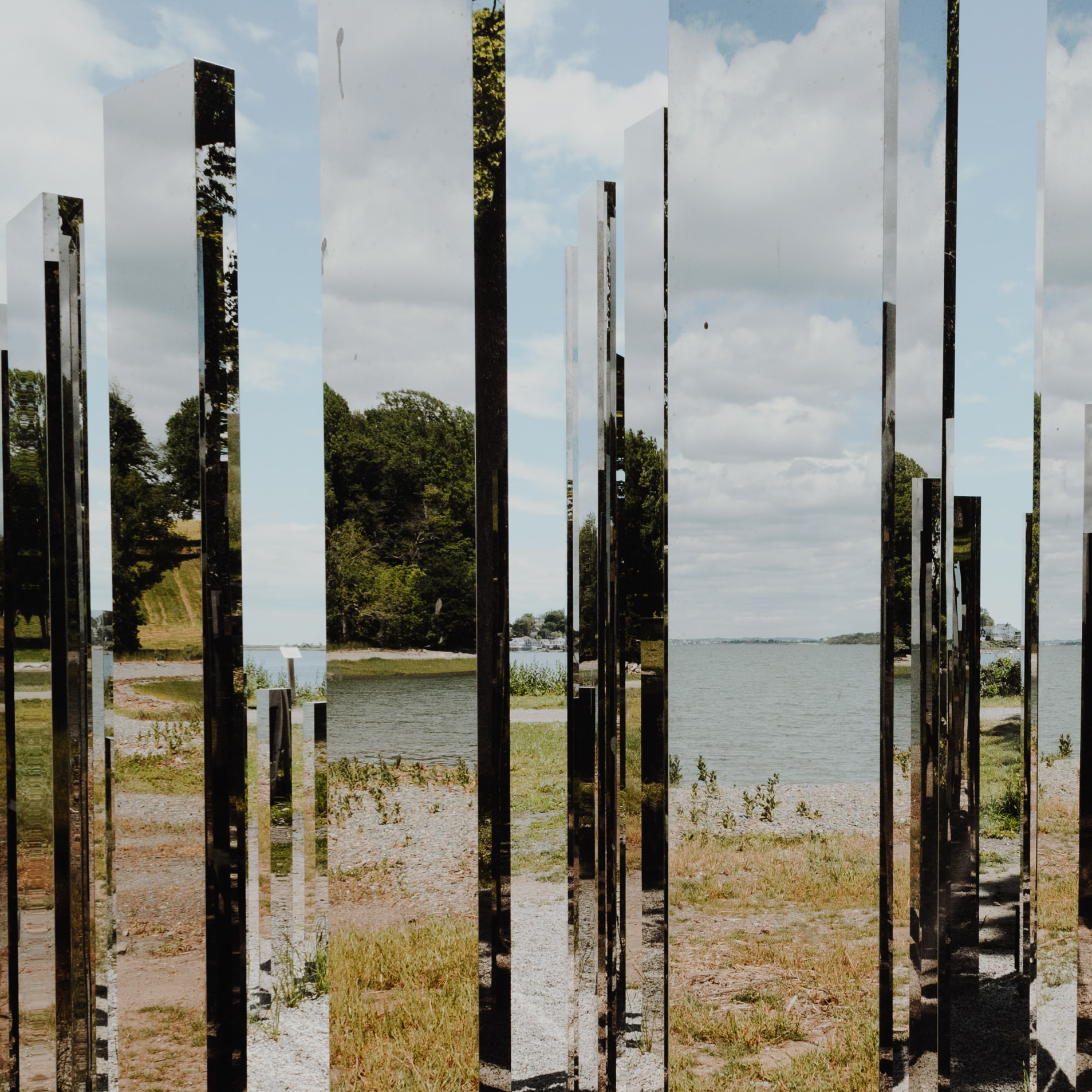 Mirrored art installation