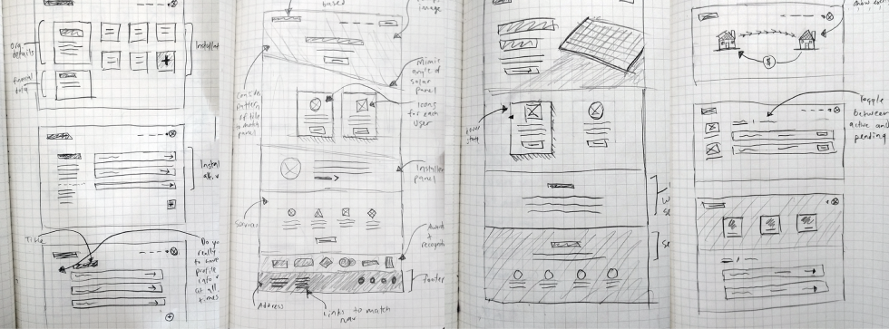 Interface sketches