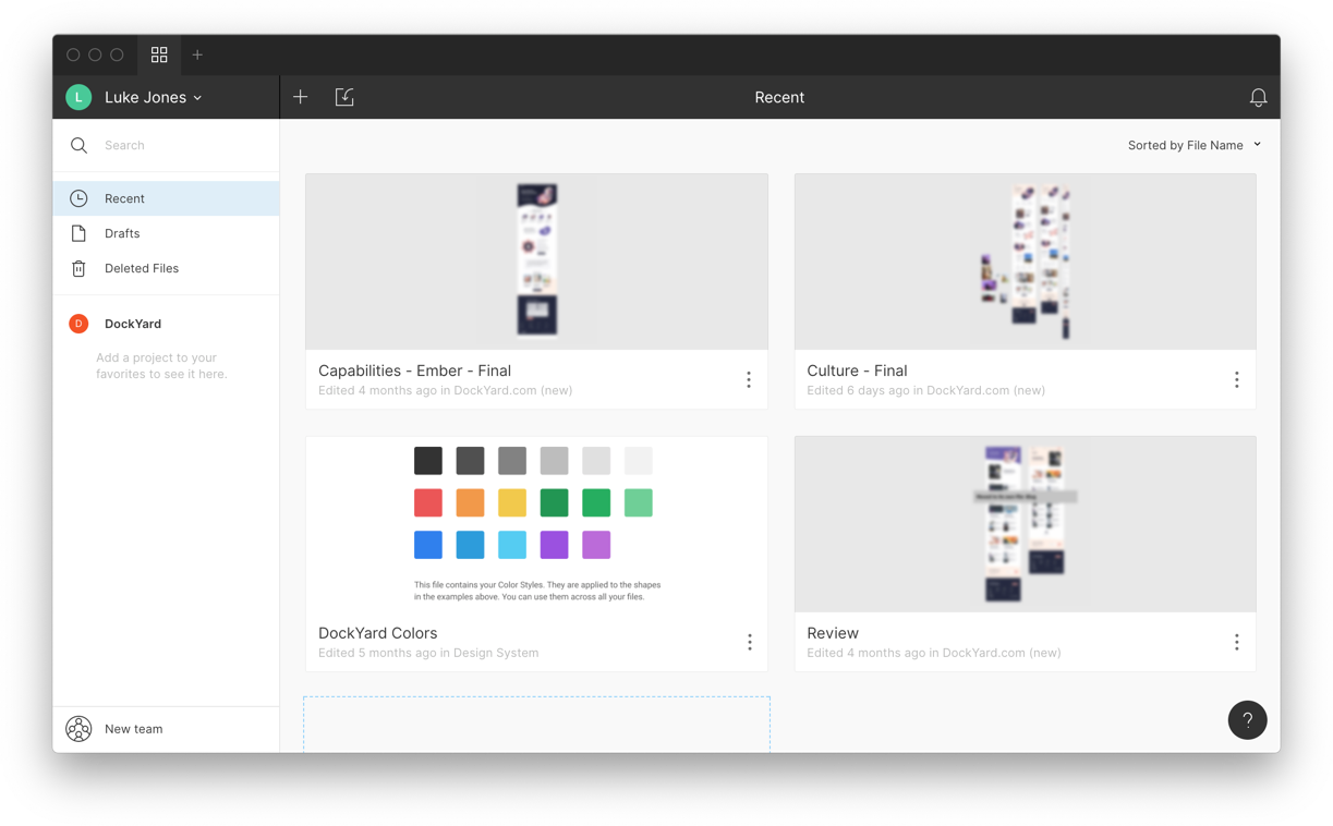4 projects in Figma